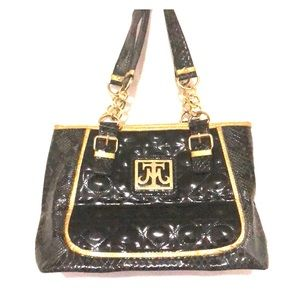 Miss Tina Black & Gold Bag